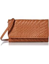 Genevieve Leather Woven SMARTHPHONE Crossbody Bag