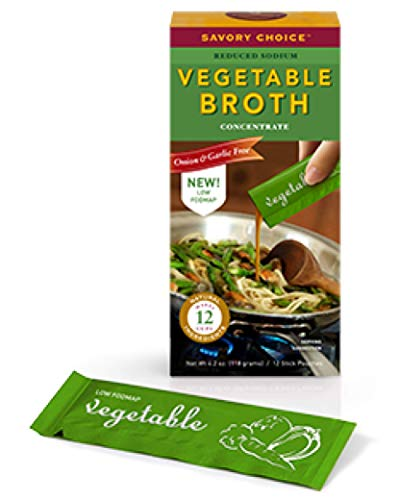 Savory Choice Low FODMAP Reduced Sodium Vegetable Broth Concentrate, Vegetable, 4.2 Ounce