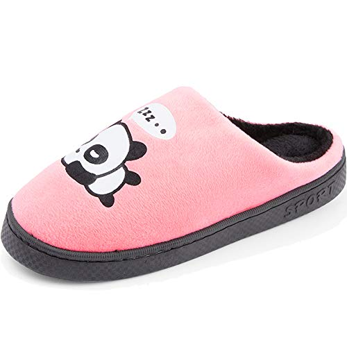 Gaatpot Pink Couples Panda Warm Cotton Winter Slippers Panda Women Anti Slippers Slip Men Cute Indoor Slippers ArrZp