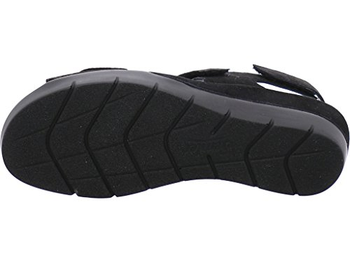Semler Damen Dagmar 9015 Wildleder Rundum Verstellbare Sandale Schwarz