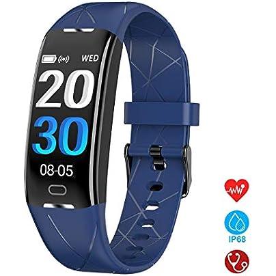 Fitness Tracker Smart Bracelet Wristband Pedometer IP67 Waterproof with Sleep Heart Rate Monitor Estimated Price £40.28 -