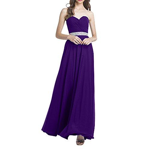 Chiffon Ballkleider Brautmutterkleider Neu Abendkleider Langes La Promkleider Violett Festlichkleider Formalkleider Brau mia YWvqnIt
