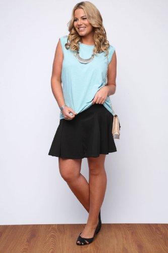 Yoursclothing Plus Size Womens Godet Skater Skirt Size 18 Black