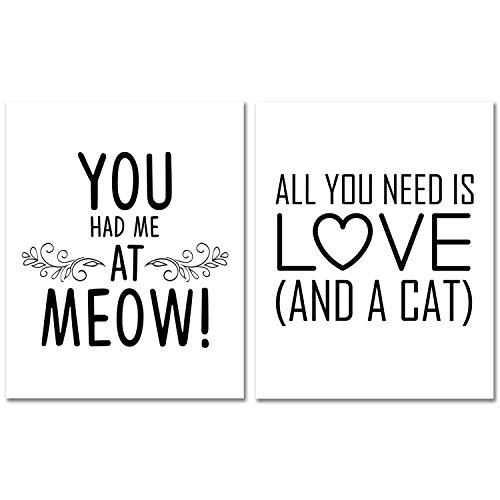 Cheap  Cat Lover Wall Art Prints - You Had Me At Meow -..