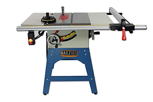 Baileigh TS-1040C Contractor Style Table Saw, Prewired 110V, 110/220V, Single Phase, 10""