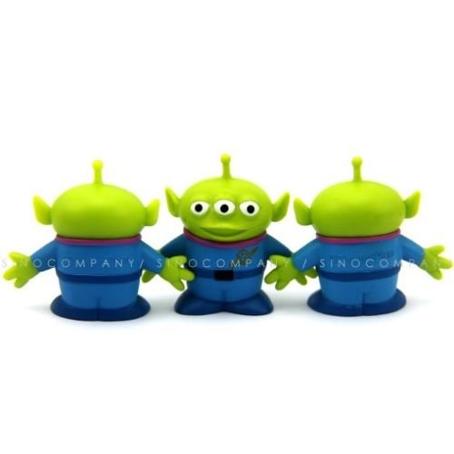 3 Disney Toy Story Alien Plastic 1.5'' figures Xmas Gifts Collectible -
