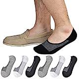 Jormatt 6 Pairs Mens Women Genuine No Show Socks Boys Sneaker Shoes Mesh Knit Low Cut Athletic Cotton Socks Non Slip,Men Shoes size 10-14