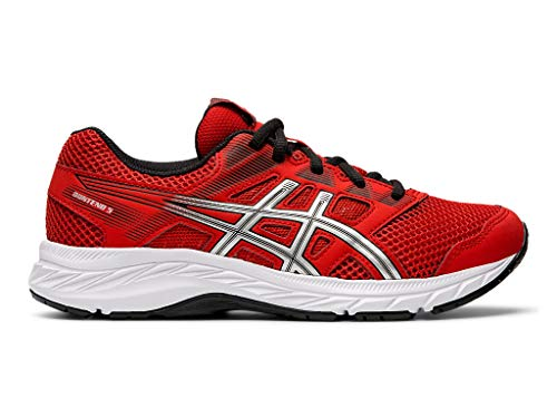 - ASICS Kid's Gel-Contend 5 GS Running Shoes, 5, Classic RED/Silver