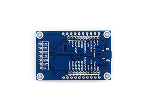 Waveshare XBee USB Adapter USB Communication Board with Xbee Interface Supports XBee Connectivity