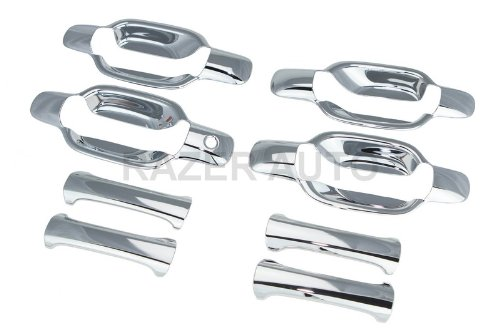 Razer Auto 2004-2012 CHEVY CHEVROLET COLORADO / 2004-2012 GMC CANYON CHROME DOOR HANDLE COVER 4D NO PASSENGER SIDE - Chrome 4d Door Handle
