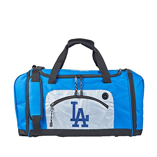 The Northwest Company MLB Los Angeles Dodgers Roadblock Embroidered Duffel Bag, 20-Inch, Blue ()