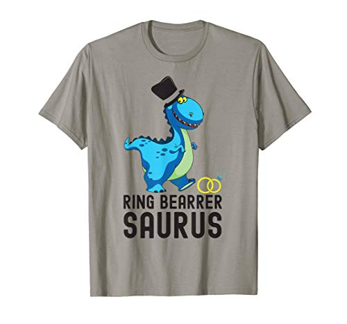 Funny Ring Bearer Saurus Dinosaur T-Shirt Wedding Gift -