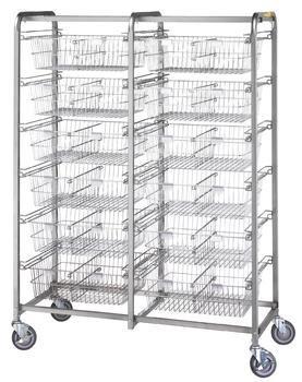 R & B Wire 1012 Twelve Basket Resident Item Cart - Resident Item Cart