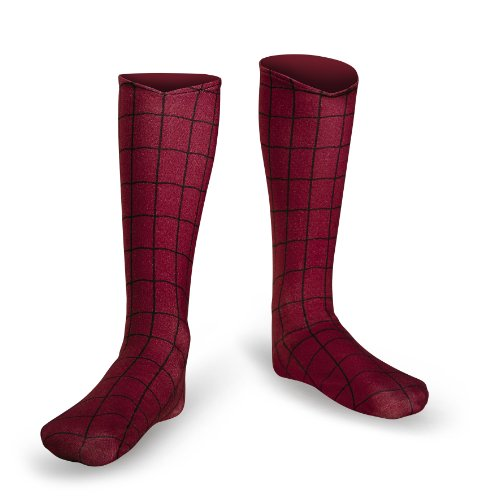 Disguise Men's Marvel The Amazing Movie 2 Spider-Man Adult Boot Covers, Red/Black, One Size ()