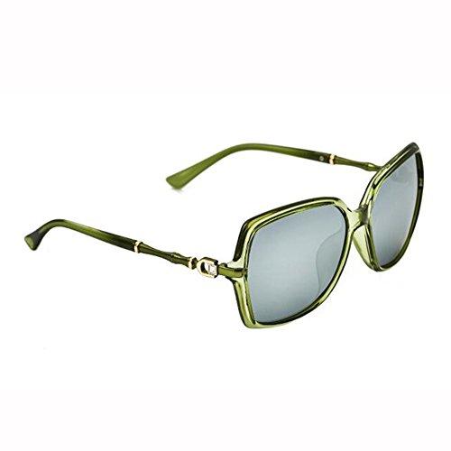 Gafas Hembra De Gafas A D Polarizada Luz Sección Imitación Diamante D Moda De Vistoso Marco Bambú Manejar De xin Grande Sol WX Palabra Color gaRnWf