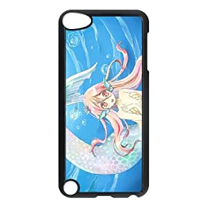 iPod Touch 5 Case Black Anime Mermaid ZGU Cell Phone Case Custom Design