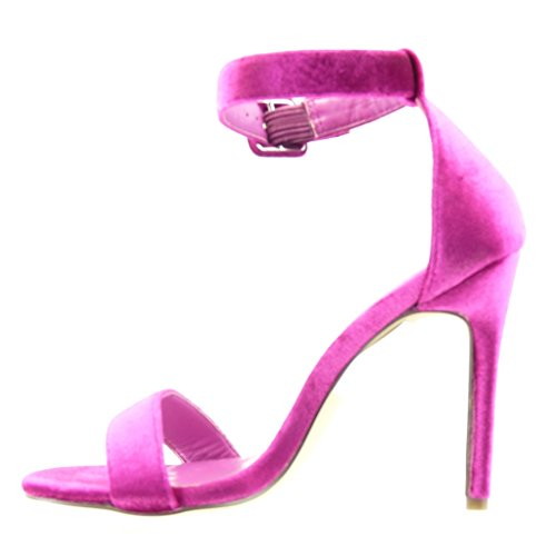 Angkorly Damen Schuhe Pumpe Sandalen - Stiletto - Sexy - String Tanga Stiletto High Heel 11 cm Fushia