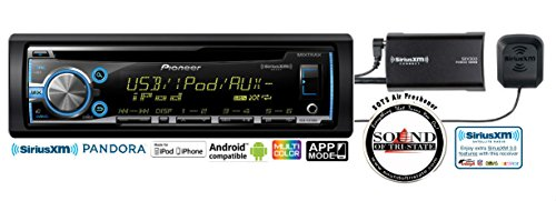 Pioneer DEH-X3700S CD Receiver USB and Auxiliary with SiriusXM SXV300 Tuner & Antenna with a FREE SOTS Air Freshener (Gmc K25 Antenna)