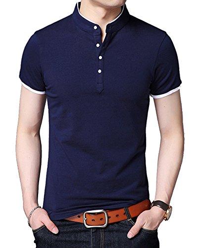 ポロシャツ 夏服 トップス 半袖 メンズ poloシャツ 綿100% 吸汗速乾 カジュアル ゴルフ シャツ 快適 薄手 立っている襟 4釦仕様です 春夏季対応 夏服 メンズ