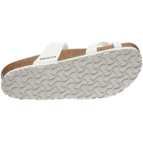Birkenstock Mayari Birko-Flor - Sandalias de dedo para mujer Blanco (Weiß)
