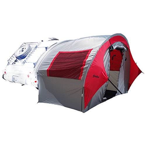 PahaQue Wilderness Tab Trailer Side Tent, Silver/Red