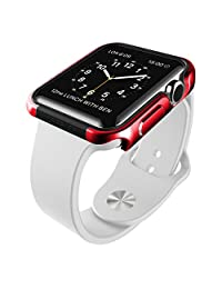 X-Doria Defense Edge Aluminum Apple Watch Protective Frame for 38mm Apple Watch, Watch Sport and Watch Edition (Red)