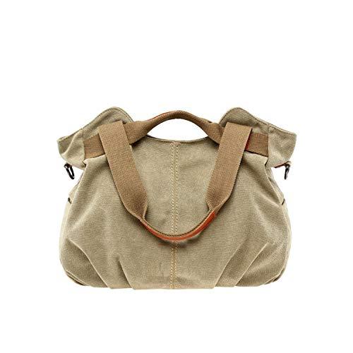 (Large Capacity Casual Vintage Hobo Canvas Handbags Handbags Women Bags,Khaki)
