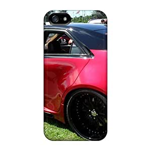 Iphone 5/5s Hard Back With Bumper Silicone Gel Tpu Case Cover Custom Cadillac Late-model Sedan