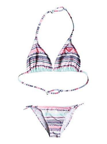 Roxy Kids Girl's Little Indy Tri Set (Big Kids) Beach Glass/Sombrero Stripe Swimsuit Set