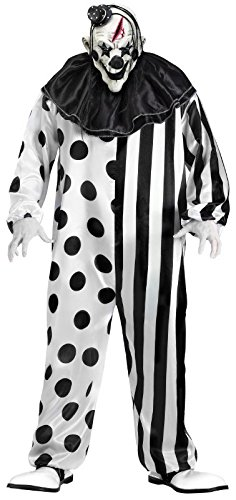 Art Piece Halloween Costume (FunWorld Killer Clown Complete, Black/White, One)