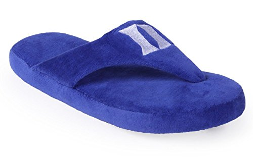 DUK08-1 - Duke Blue Devils - Small - Happy Feet Men's and Womens Comfy Flop Slipper ()