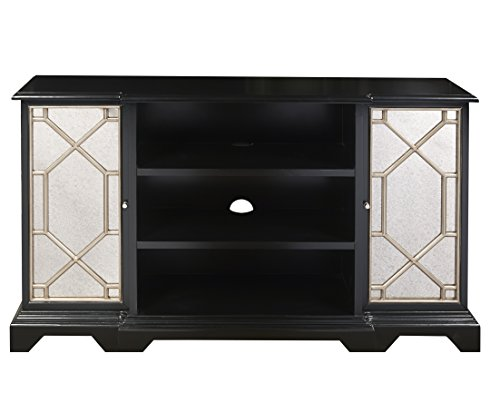 Pulaski P017141 Black Mirrored Entertainment Console Table by Pulaski