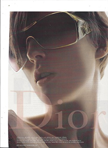 PRINT AD With Stella Tennant For Dior - Stella Sunglasses