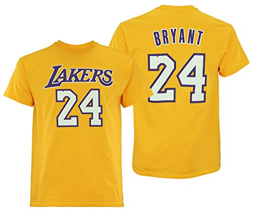 adidas NBA Men's Short Sleeve Mass Replica Tee, Los Angeles Lakers- Kobe Bryant XX-Large (Mens Nba Tee Adidas Player)