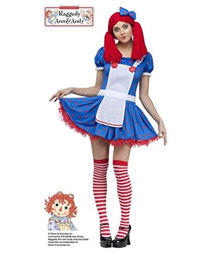 - Sassy Raggedy Ann Adult Costume - X-Small