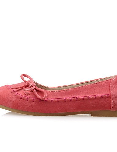 PDX/ Damenschuhe - Ballerinas - Lässig - Kunstleder - Flacher Absatz - Komfort / Rundeschuh - Blau / Gelb / Rosa / Mandelfarben , pink-us4-4.5 / eu34 / uk2-2.5 / cn33 , pink-us4-4.5 / eu34 / uk2-2.5 /