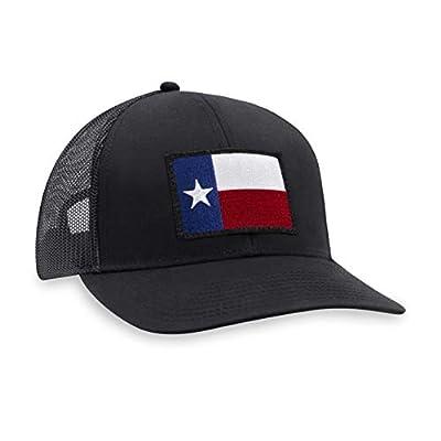 HAKA Hat Texas State Flag Patch Baseball Cap - Black Trucker Mesh Snapback