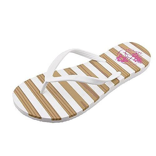 985a39dfb4ba Panama Jack Ladies Teak Stripe Flat Sandal Fashion Flip Flop ...