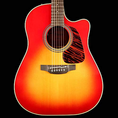 Takamine CP6SSDC 6 Strings Dreadnought Acoustic Guitar with Bold Adirondack Spruce Top and Sapele Back and Sides - Gloss Cherry Sunburst