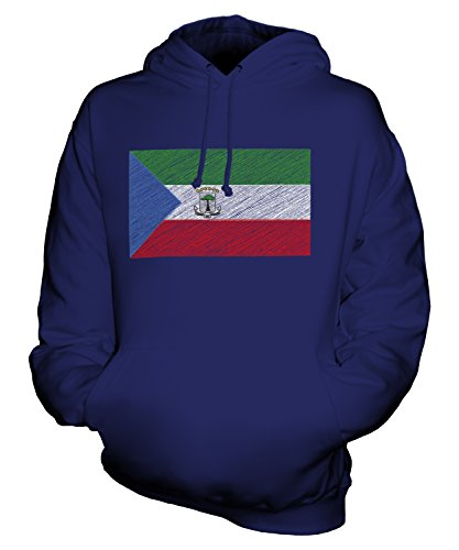 CandyMix Unisex Equatorial Guinea Scribble Flag Mens/Womens Hoodie, Size 5X-Large, Color Navy ()