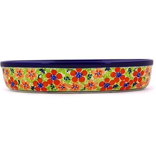 Polish Pottery Oval Baker 11-inch (Magnificent Theme)