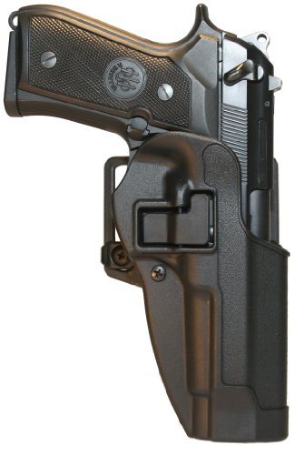 BlackHawk® CQC™ Carbon Fiber Holster Matte Finish Beretta 92 / 96, BLACK