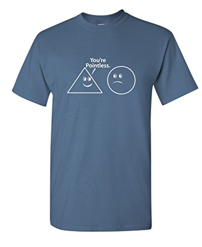 You're Pointless funny math sarcastic Nerd Geek Funny t shirt 2XL Dusk