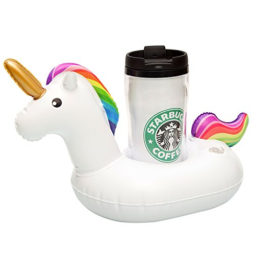 Inflatable Drink Holder,Unicorn Cup Holder Floats Inflatable Floating Coasters for Pool Party Water Fun