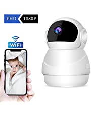 【2019 Nueva Versión】CHORTAU Cámara de Vigilancia WiFi Inalámbrica Cámara IP 1080P Full HD, Cámara de Seguridad con Sistema de Vigilancia, Visión Nocturna, Detección de Movimiento, P2P