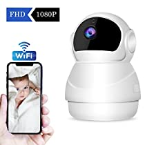 CHORTAU Wireless Security Camera WiFi/Pan/Tilt/Zoom 1080P Full HD IP Camera with Security Surveillance System, Night Vision, Motion Detection, P2P