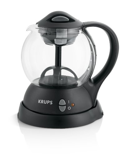 KRUPS FL7018 Personal Tea Kettle with integrated infusion basket for loose tea leaves and tea bags, Black (Electric Teapot Personal compare prices)