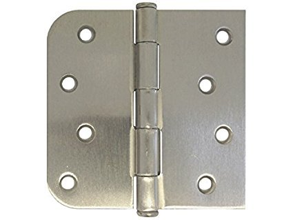 Superb Tamsun Brushed Nickel 4u0026quot; X 4u0026quot; Round Corner Exterior Door Hinge ... Part 26