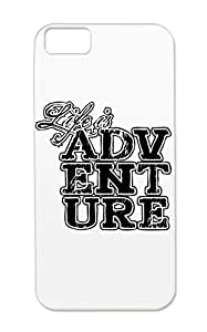 Shock-absorbent Miscellaneous Sports Life Is Adventure Black For Iphone 5c Case