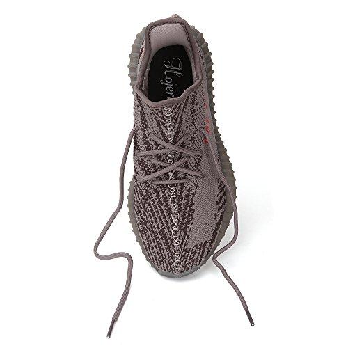 et légères de Respirantes Levage Hojert Femmes Chaussures Rouge Baskets Course Gris de pour fwq08